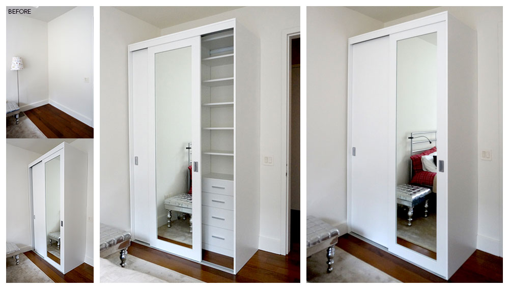 Use extra space to add a wardrobe