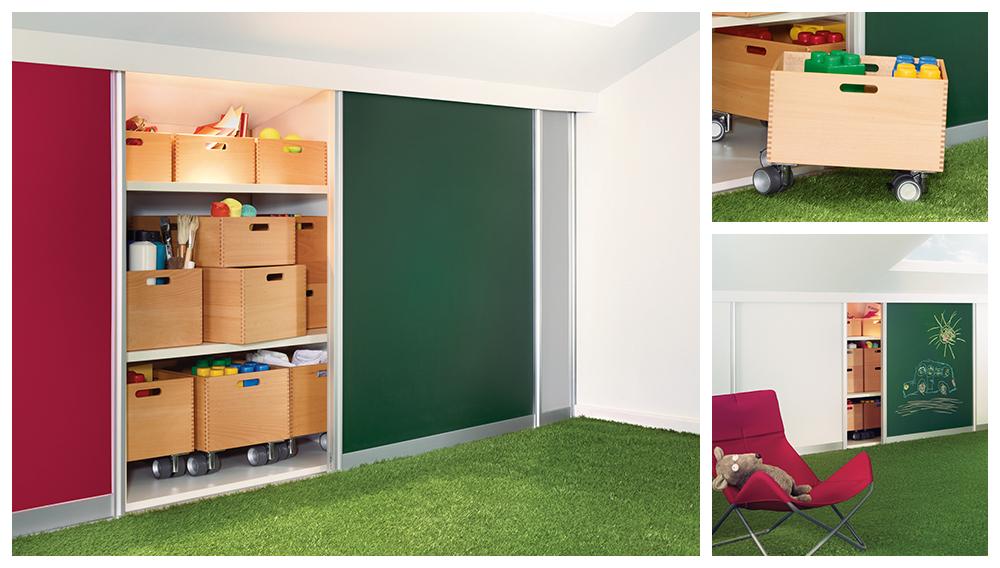 Sliding Doors by California Closets - Kids Rooms