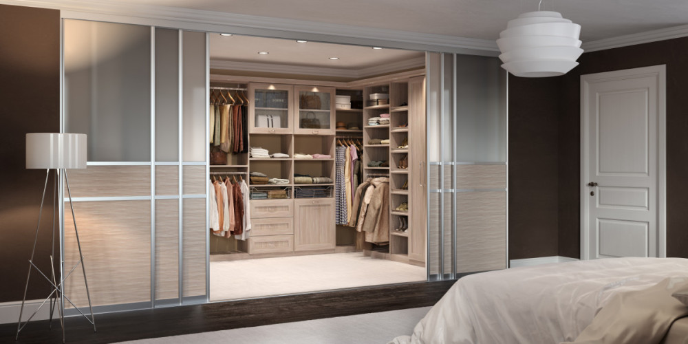 Closet Room by Sliding Door by California Closet