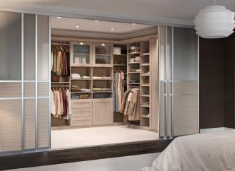 Custom Closet by Sliding Door by California Closets